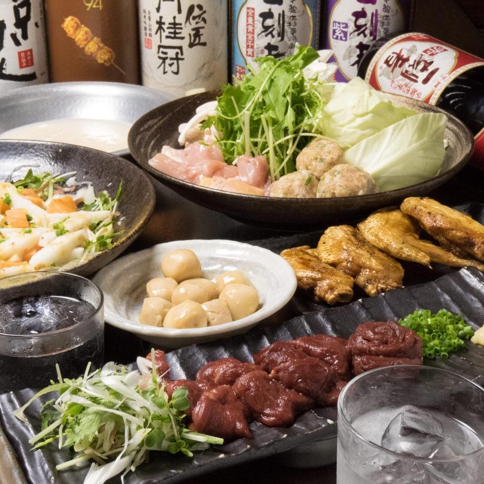 とりいちず食堂 鷺沼店の鶏料理もお酒もしっかり楽しめるコース